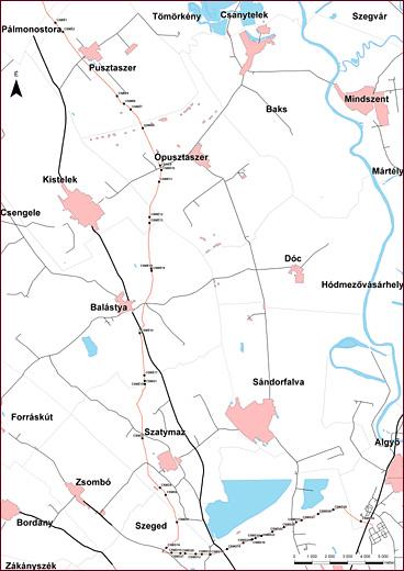 A Pusztaszer és Algyő közötti gázszállító vezeték nyomvonalán végzett megelőző feltárások