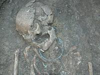 Szarmata női sír részlete - 10. számú lelőhely