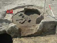 Árpád-kori kemence és a család kutyája - 23. sz. lelőhely