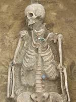Szarmata női sír részlete