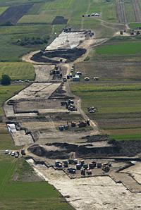 A Makót elkerülő út nyomvonalán folyó ásatások