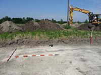Szentesfai ásatás munkában a gép