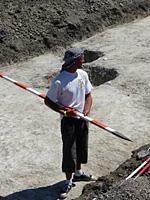 Szentesfa Haraszti László régészhallgató fotózásra készü