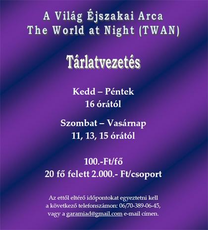Tárlatvezetés - Asztrotájkép vándorkiállítás - A Világ Éjszakai Arca - The World at Night