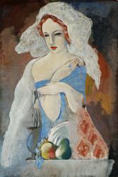 Kádár Béla: Nő gyümölccsel