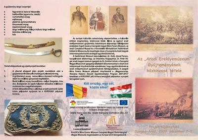 Aradi Ereklyemúzeum Gyujteményének tárgyi csoportja