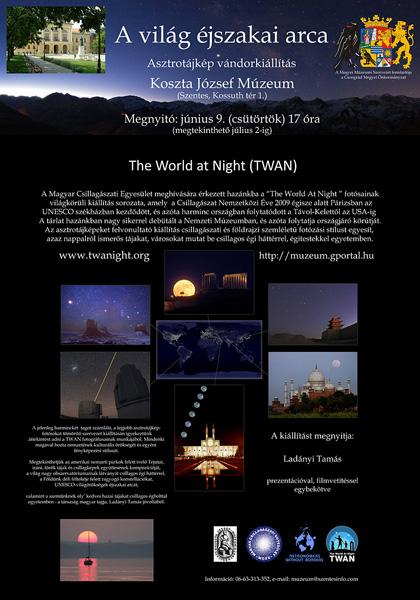 Asztrotájkép vándorkiállítás - A Világ Éjszakai Arca - The World at Night (TWAN)