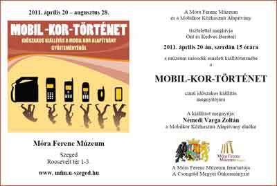 Mobil-kor-történet időszaki kiállítás a Móra Ferenc Múzeumban