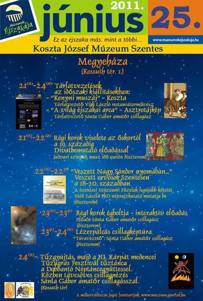 Múzeumok Éjszakája 2011 Szentes - Programok - Megyeháza
