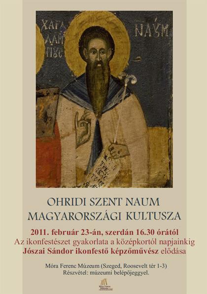Ohridi Szent Naum magyarországi kultusza - Jószai Sándor ikonfestő képzőművész előadása