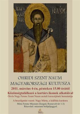 Ohridi Szent Naum magyarországi kultusza - Közönségtalálkozó a kortárs ikonok alkotóival