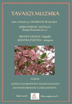 Tavaszi koncert a szegedi Móra Ferenc Múzeumban