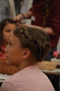 Gyönyörű hajfonat