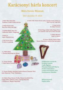 2017-12-19 plakat of hárfa karacsonyi koncert (a4)