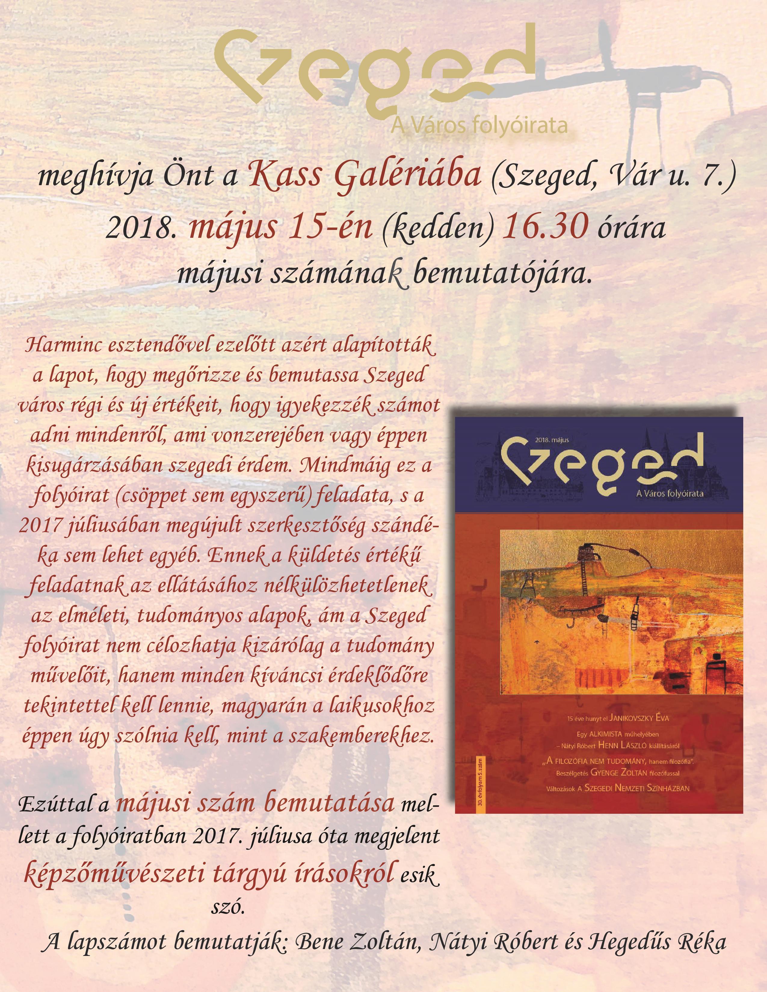 Szeged-A város folyóirata