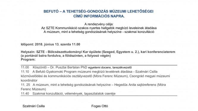 Meghívó -Befutó - információs nap- 180613
