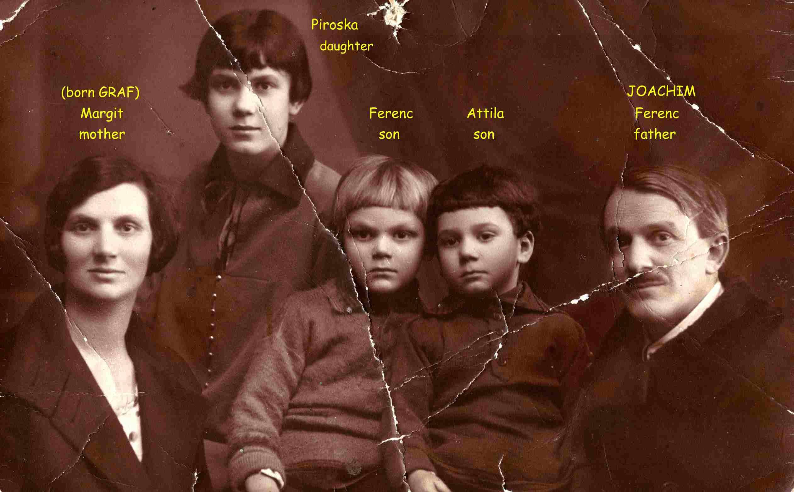 Joachim Ferenc családjával, Szegeden 1925-ben