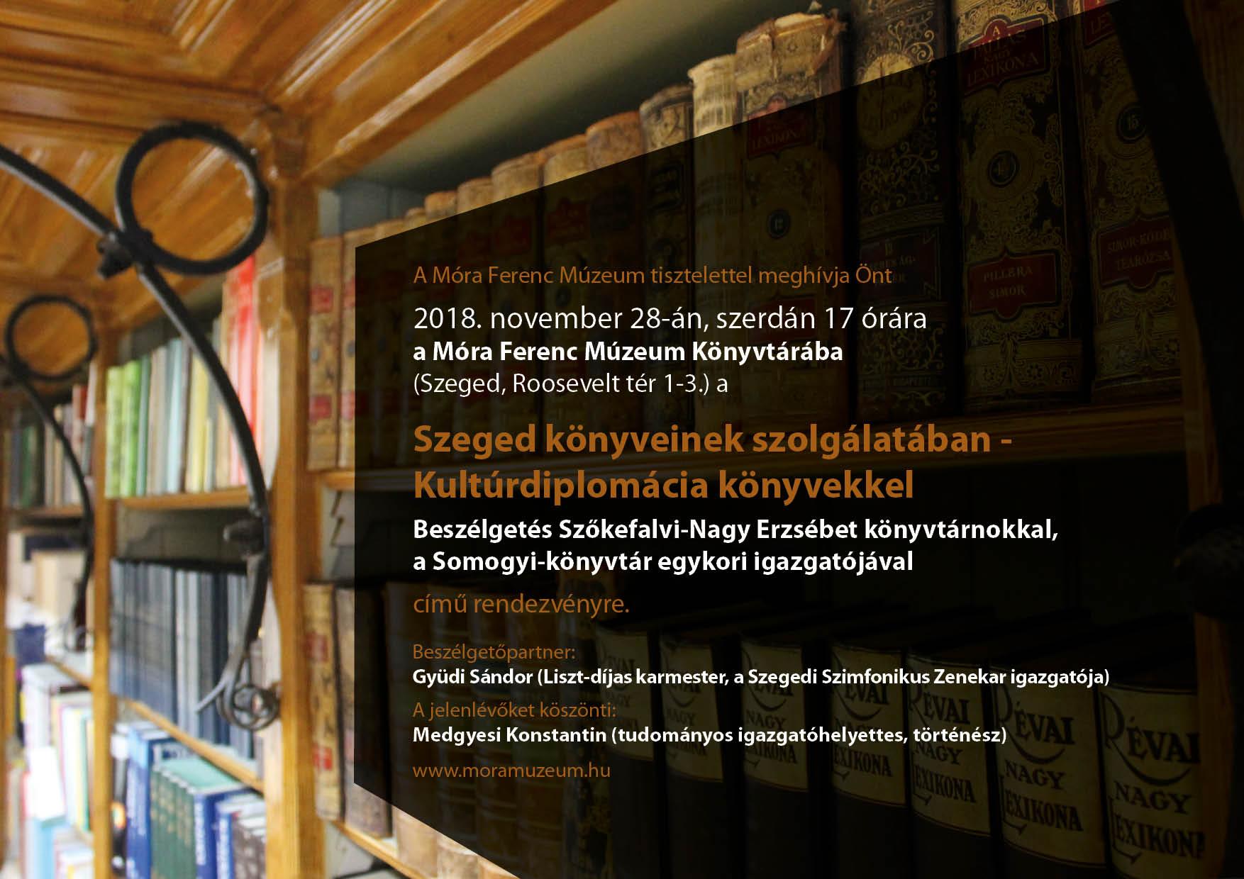 Szeged könyveinek szolgálatában