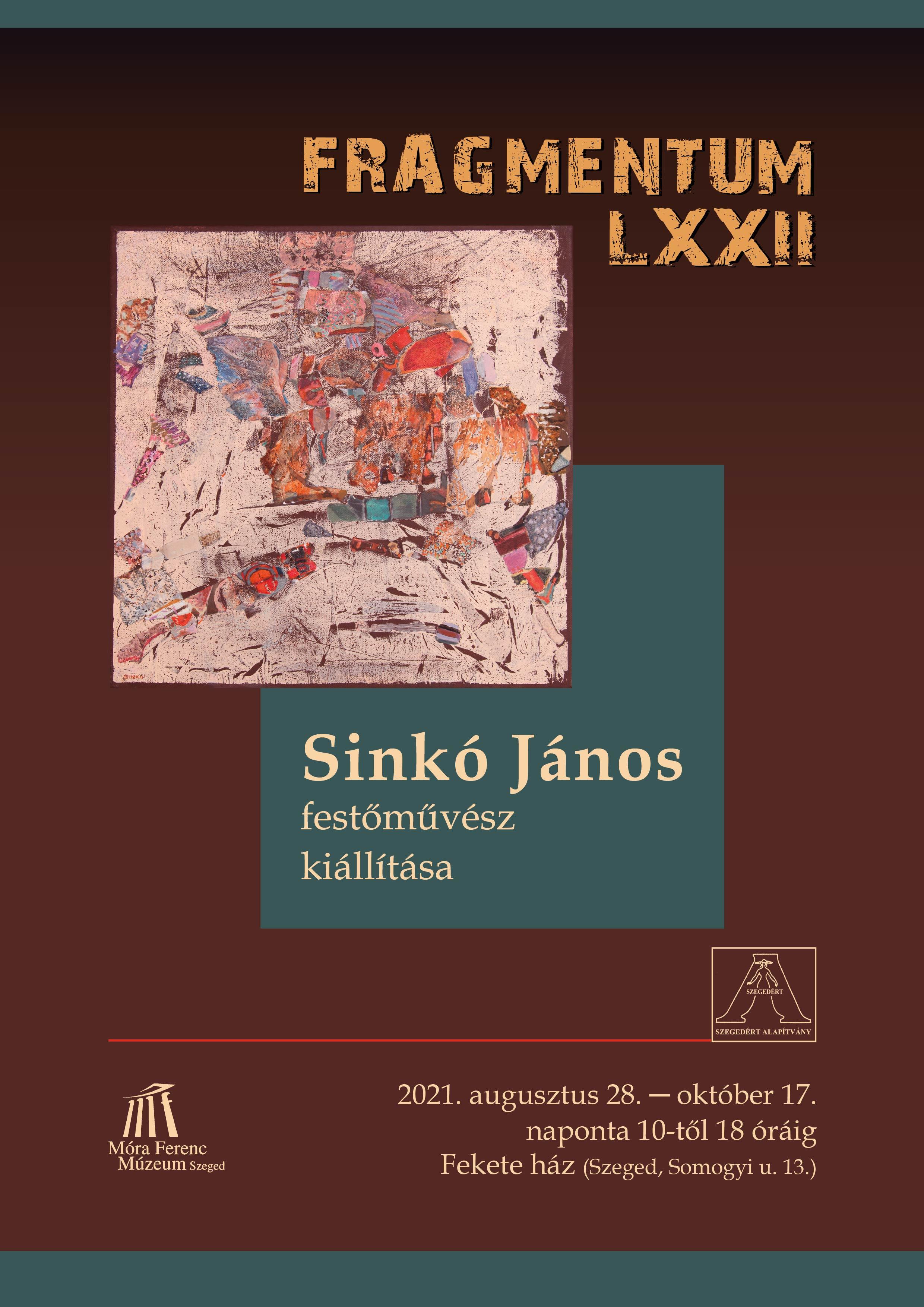 Sinkó János kiállítása a Fekete házban